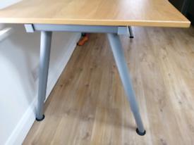 Office desk/table, VGC. Oak effect top.