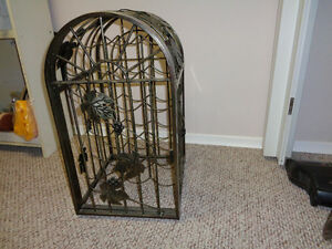 Brass IRON WINE RACK.