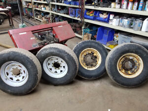 Four ST 235 / 85 R 16 Trailer Tires on Steel Rims - 10 Ply $200