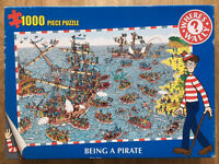 1000 Piece Jigsaw - Where's Wally Being a Pirate