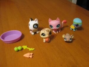 LITTLEST PET SHOP LOT K DOG CAT CHIPMUNK MOUSE TURTLE