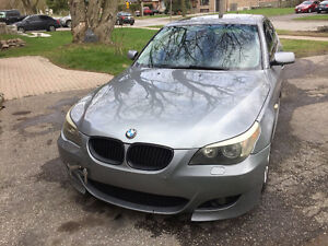 2004 BMW 530i M package matalic silver exterior&black leather