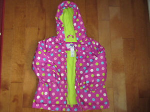 Fleeced fall coat with a hood size 5