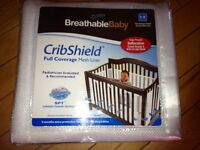 NEW Breathable Baby full size crib shield