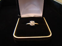 .26ct Diamond Solitare 10k Gold Engagement Ring