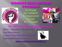 Women's self defense course. October 6th from 1-3pm.
