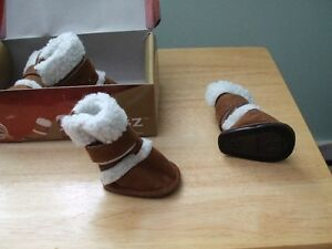 New- Pugz doggy boots and Fleese Booties
