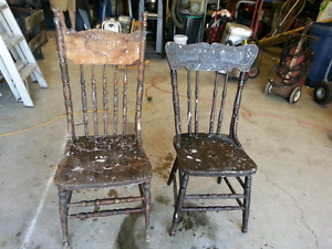 Antique wooden chairs, $25 each