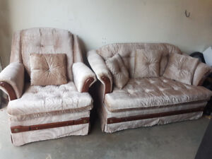 Love seat and chair for sale