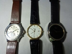 LOT OF 3 PIECES AUTHENTIC SWISS MADE CHOPARD MENS WATCH