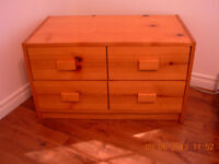 Lot de meubles en pin solide,bureau avc mirroir,etagere,sans fum