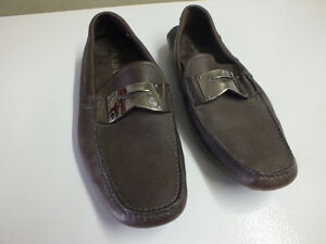 PRADA Men Brown Leather Loafers