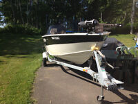 16 ft boat,motor and trailer for sale