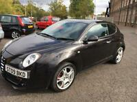 0909 Alfa Romeo MiTo 1.4 16V Veloce Black 3 Door 58666mls MOT May 2017