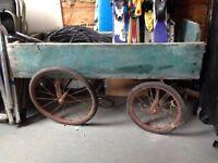 Antique wagon and door
