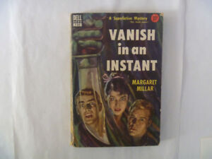 VANISH IN AN INSTANT by Margaret Millar - 1952 Paperback