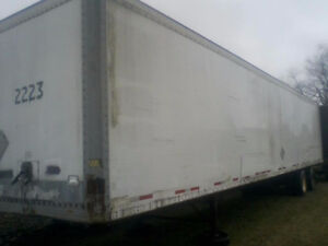 48ft Dry van trailer for storage