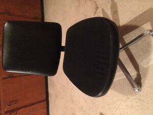 Desk chair black & 3 stacking stools