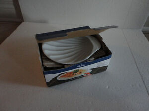 Brand new in box set of 4 shell shaped serving plates London Ontario image 1