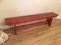 Lovely wooden bench approx 6 feet £50