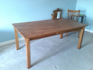 Timeless Hardwood Dining Table