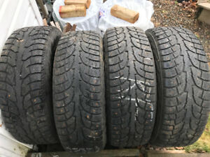 "16"" studded winter tires tires from dodge van"