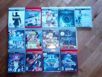 Lot de jeux de PS3 a vendre