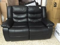 Loveseat or sofa 2 recliners in black bonded leather