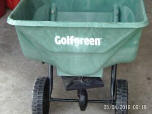 Used golf green grass seed spreader $15