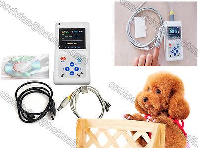 Handheld Veterinary Pulse Oximeter Cms60d-vet With Tongue Spo2 Probepc Software