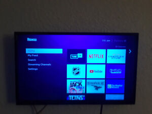 "SELLING, 32"" Insignia LED HDTV, Flat screen W/Roku 3& Wall mount"