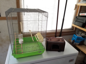Green Base Bird Cage and Carry Cage