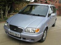 Hyundai Trajet 2.0 GSi 7 Seater 1 Previous Owner 47K From New MOT Until Oct 2017