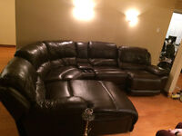 brown leather couch very good condition