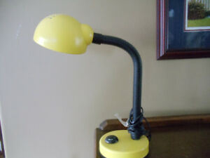 Yellow Electric Goose Neck Desk Lamp