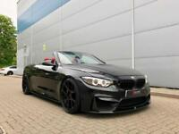 2014 64 BMW M4 3.0 Convertible Black + RED LEATHER + M PERFORMANCE STYLING