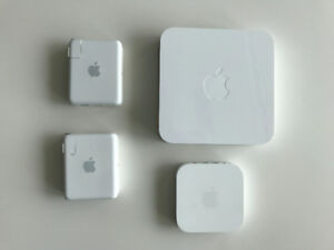 Apple Airport Extreme and 3xAirport Express