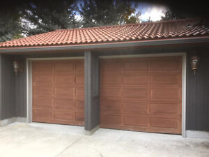 Cedar raised panel garage door