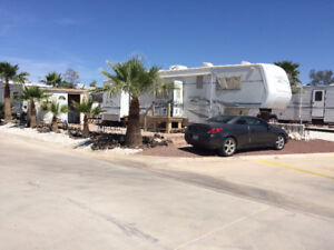 Lot And RV For Sale Or Rent in Rancho Ventana in gated resort