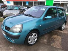 2003 Renault Clio 1.2 16v a/c Dynamique Full Mot Drive good low insurance Tax