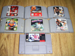 N64,Super Nintendo,Sega and Xbox Games for sale