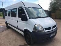 Renault Master 15 seater minibus 56 reg 217kms tested March 2019 fitted tacho