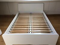 White IKEA double bed. Never been used