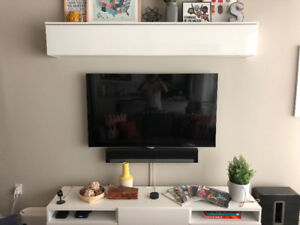 IKEA BESTÅ TV Bench and Wall-Mounted Storage Combo