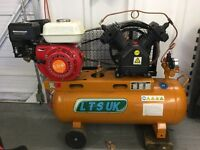 Petrol engine air compressor