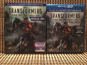 Transformers 4: Age Of Extinction 3D (4-Disc Blu-ray/DVD,2014)+R