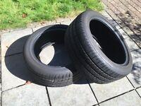 Two tyres. 245/45 ZR18. Pirelli. 100Y. PZero.