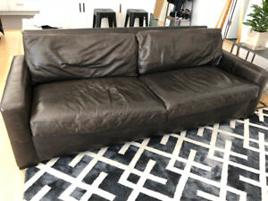 Restoration Hardware Maxwell Leather Couch - $2500