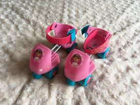 Girls Lovely adjustable size roller skates