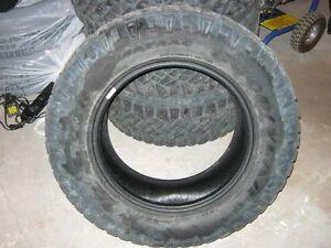 275/65/18 10ply Wrangler Duratrac studded tires (4)